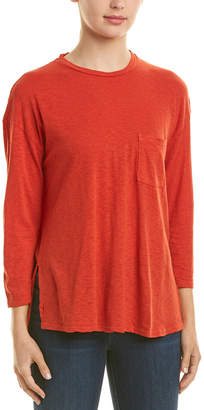 Three Dots High-Low Pocket T-Shirt