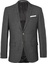 HUGO BOSS Grey Hutsons Slim-Fit Birdseye Wool Blazer