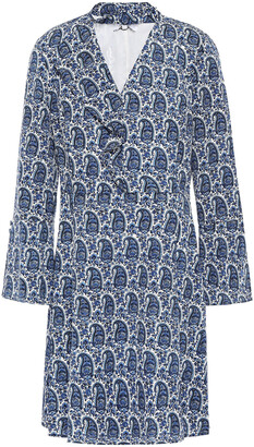 Derek Lam 10 Crosby Cutout Printed Crepe De Chine Mini Dress