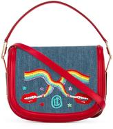 Olympia Le-Tan smoking lips embroidered 'Carson' shoulder bag