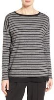 Eileen Fisher Women's Stripe Organic Cotton Jersey Top