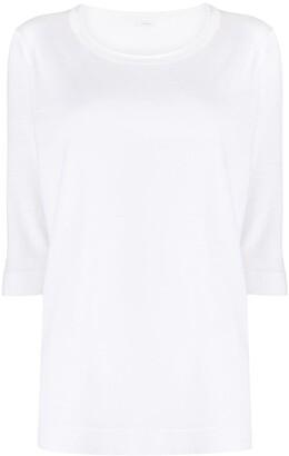 Malo back-pleat T-shirt