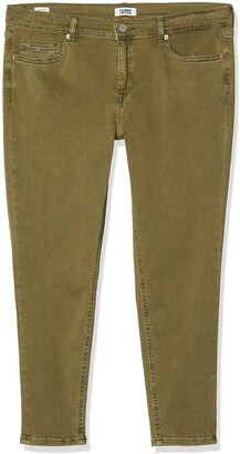 Tommy Jeans Women's Nora Mid Rise Skinny Ankle Mrtl Straight Jeans