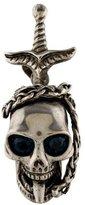 Alexander McQueen Crystal Skull & Dagger Pendant