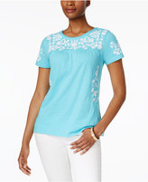 Charter Club Cotton Embroidered Top, Only at Macy's