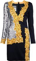 Moschino long sleeve sequin mirror dress - women - Polyester/Rayon/other fibers - 40