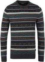 Barbour Orford Charocal Fairisle Crew Neck Sweater