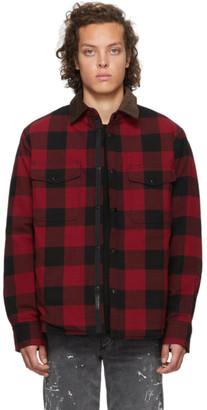 Rag & Bone Black and Red Padded Jack Shirt