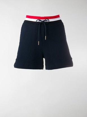 Thom Browne Ribbed Waistband Track Shorts