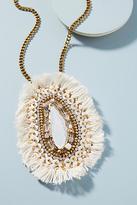 Anthropologie Asha Fringed Pendant Necklace