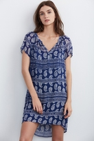 Lacey Paisley Block Print Dress