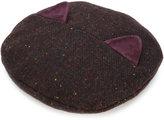 Maison Michel Billy Ears hat - women - Cotton/Lamb Skin/Wool - S