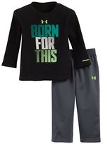 Under Armour Baby Boys Two-Piece Crewneck Tee and Pants Set