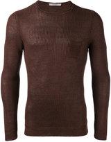 La Fileria For D'aniello - slim-fit ribbed jumper - men - Linen/Flax - 46
