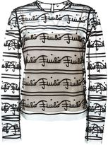 Emilio Pucci sheer branded top