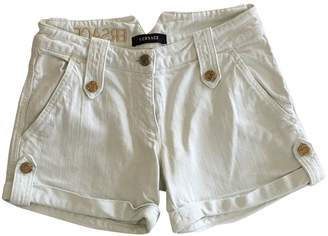 Versace White Cotton - elasthane Shorts for Women
