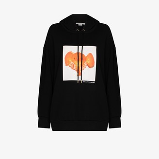 Stella McCartney Tangerine Elephant-Print Hoodie