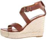 Lanvin Leather Crossover Wedges