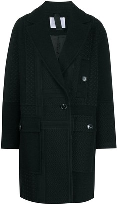 Lala Berlin Kufiya embroidered double-breasted coat