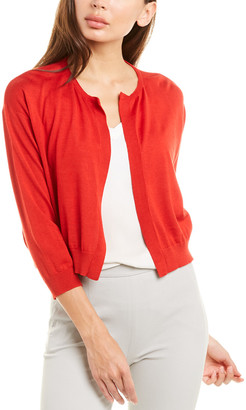 Piazza Sempione Dropped-Shoulder Wool & Silk-Blend Cardigan