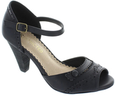 Restricted Black Done Deal Peep-Toe Sandal