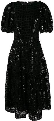 Simone Rocha puff-sleeve sequinned dress