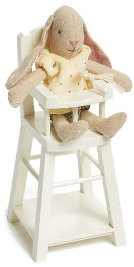 Infant Girl's Maileg Micro Bunny Rabbit Stuffed Animal And Highchair