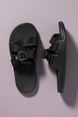 Anthropologie Chaco Chillos Slide Sandals By in Black Size 6