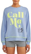 Disney Women's and Women's Plus Women's and Women's Plus Mickey Mouse Long Sleeve Pajama Top