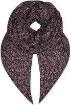 The Kooples Floral modal-silk scarf