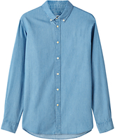 Jigsaw Bleached Denim Shirt, Chambray