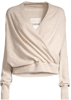 Brochu Walker Camisole Layered Faux-Wrap Sweater