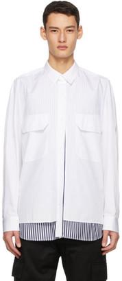 Juun.J White Poplin Layered Shirt