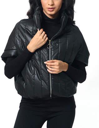 Anette Women's Non-Denim Casual Jackets Black - Black Short-Sleeve Puffer Jacket - Women & Plus