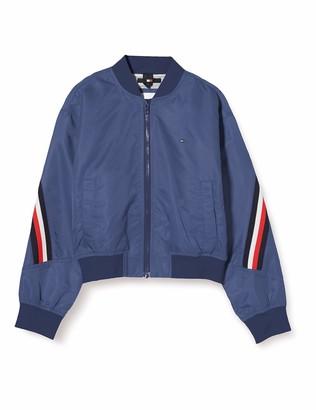 Tommy Hilfiger Girl's Global Stripe Taped Bomber Jacket