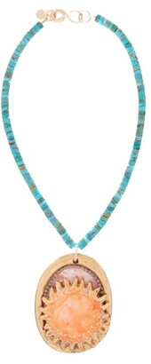 Sonia Boyajian - Sunset Sol Turquoise Bead Necklace - Womens - Gold