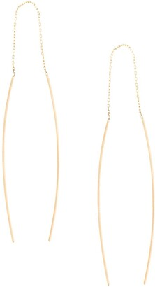 Niza Huang 9kt Gold Curved Wire Elegant Earrings