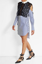 Self-Portrait Lace Cotton Shirt Dress