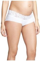 """Cosabella Never Say Never"""" Maternity Hotpant - White-Small"""
