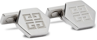 Givenchy Logo-Engraved Silver-Tone Cufflinks