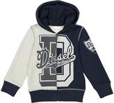 Diesel Gray Melange Logo Hoodie - Boys