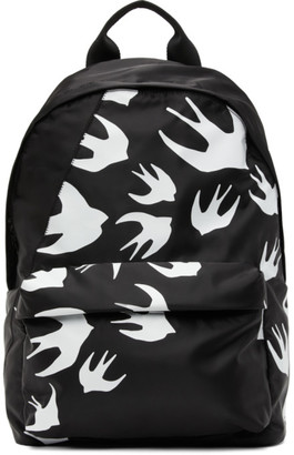 McQ Black Classic Swallows Backpack