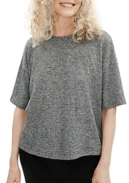 Eileen Fisher Marled Elbow Sleeve Top