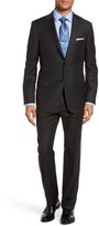 Hickey Freeman Men's B-Series Classic Fit Check Wool Suit