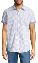 Robert Graham Cotton Short-Sleeve Button-Down Shirt