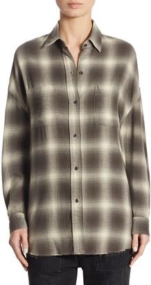 Vince Plaid Button-Front Shirt