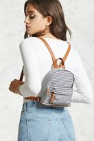 Forever 21 Striped Canvas Mini Backpack