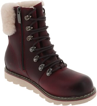 Royal Canadian Cambridge Waterproof Snow Boot with Genuine Shearling Cuff