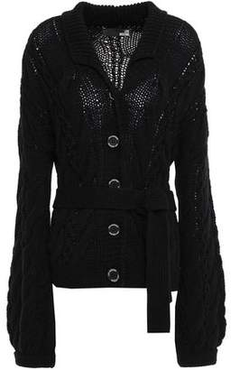 Love Moschino Cable-knit Wool-blend Cardigan