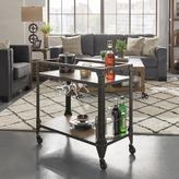 HomeSullivan Art Charcoal Industrial Bar Cart